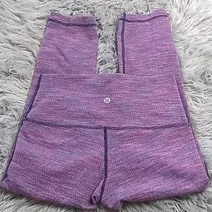 Lululemon sz S 2/4 cropped leggings space dyed